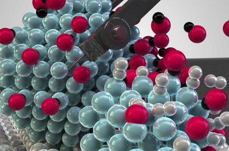 Nano-architectuur: nikkeldeeltjes zo klein als één veertigduizendste van een menselijke haar zijn de beste katalysatoren voor CO2-omzetting