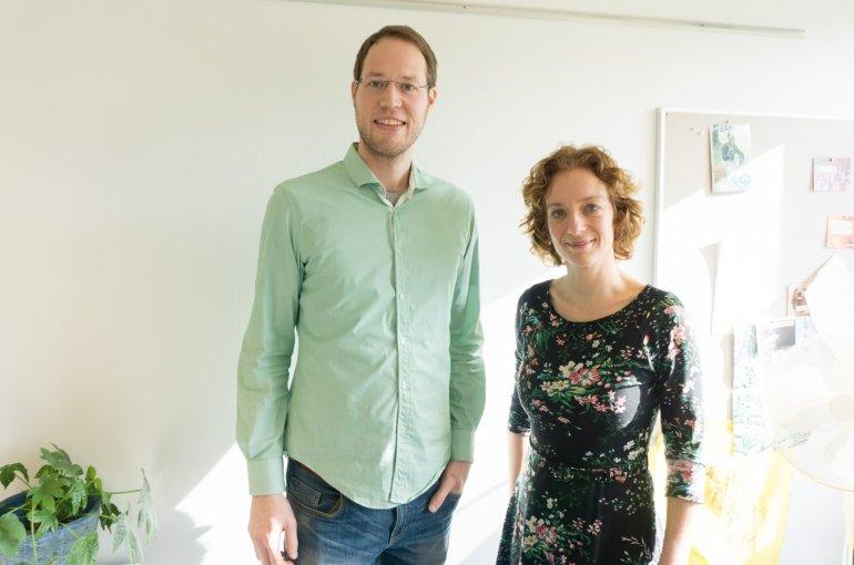 Govert-Jan Slob (links) en Marieke de Bakker (rechts)