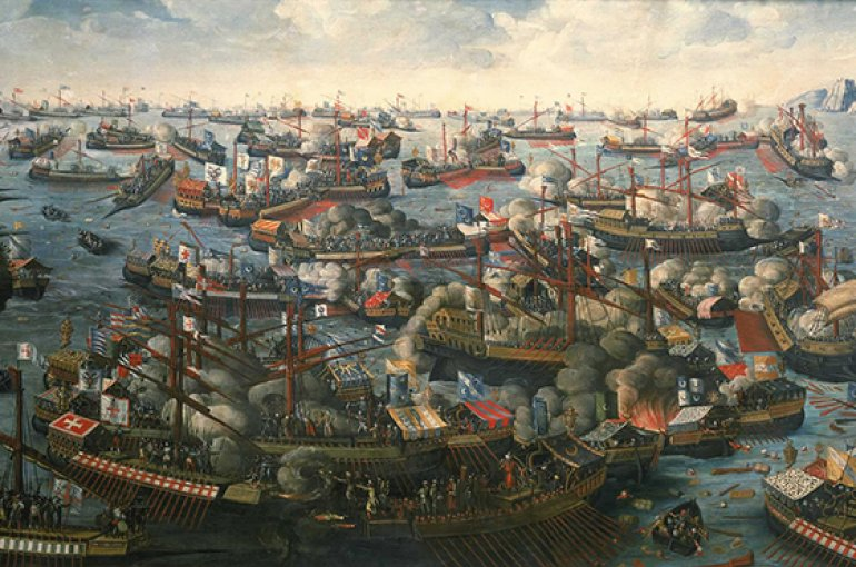 The Battle of Lepanto (1571) - Wikimedia Commons/National Maritime Museum, Greenwich, London