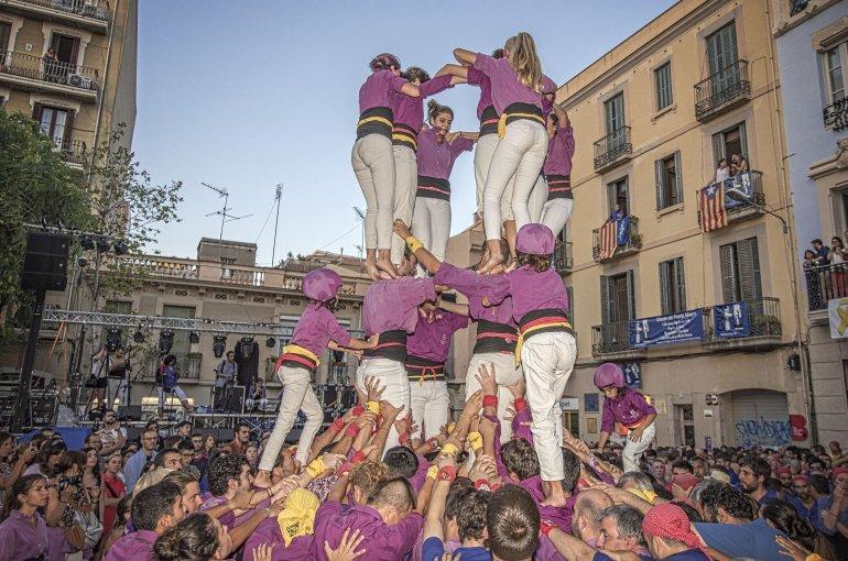 menselijke torens, in de regio Catalonië