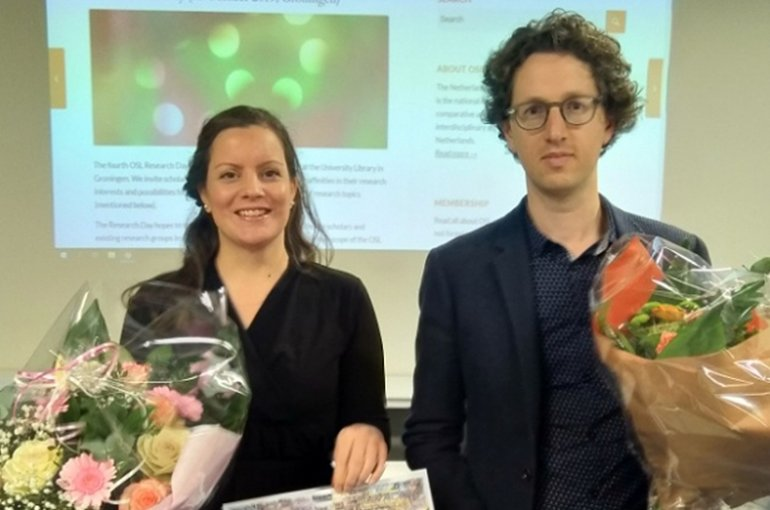 The winners of the 2019 OSL Awards are Marieke Winkler and Tom Idema. Source: oslit.nl
