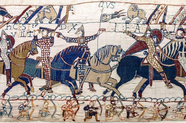 Scène nr. 55 van het tapijt van Bayeux. Bron: Wikimedia Commons