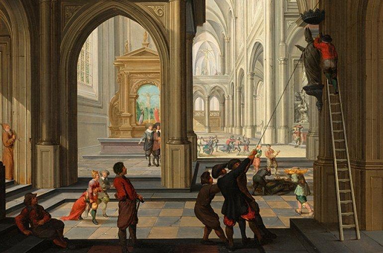 Beeldenstorm - Dirck van Delen (circa 1604/1605–1671). Bron: Wikimedia Commons/rijksmuseum.nl