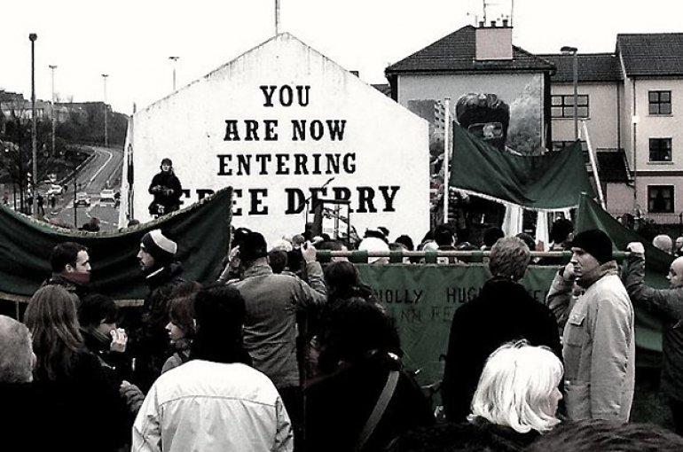 'Bloody Sunday' herdenkingsmars (2007). Bron: Wikimedia