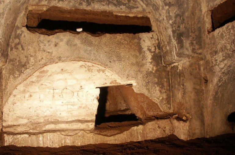 Callixtus-catacombe, Rome. Foto: Leonard Rutgers