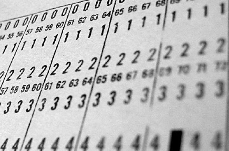Computer punch card detail. Foto: Flickr/NeilHester