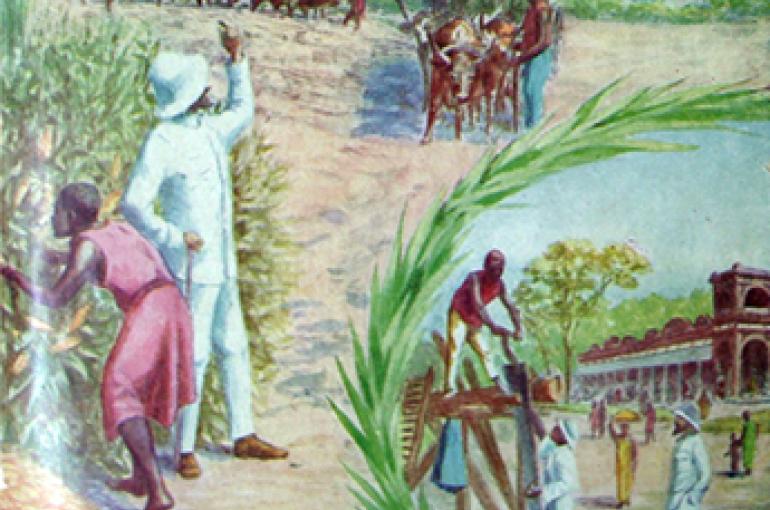 Koloniale propaganda rond 1920. Bron: Wikimedia/Ministry of Colonies, Belgium