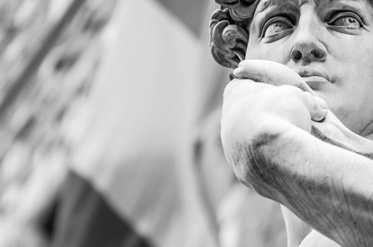De David van Michelangelo Buonarroti (1475 - 1564) © iStockphoto.com
