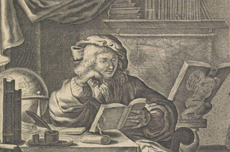 "Jan Jacobz. Wielant, ""De Geleerde in Syn Kamer"", 17th century Bron: Rijksmuseum"