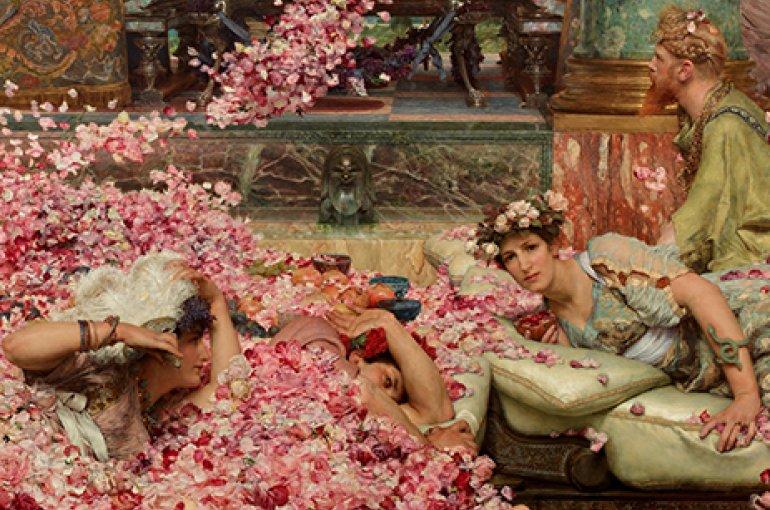 De rozen van Heliogabalus, 1888 (Lawrence Alma-Tadema (1836–1912)). Bron: Wikimedia Commons