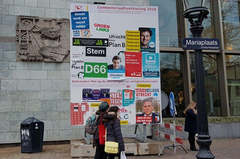 Gemeenteraadsverkiezingen in Utrecht 2018. Foto: Femke Niehof