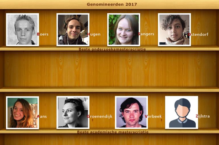 Genomineerden facultaire scriptieprijzen Geesteswetenschappen 2017