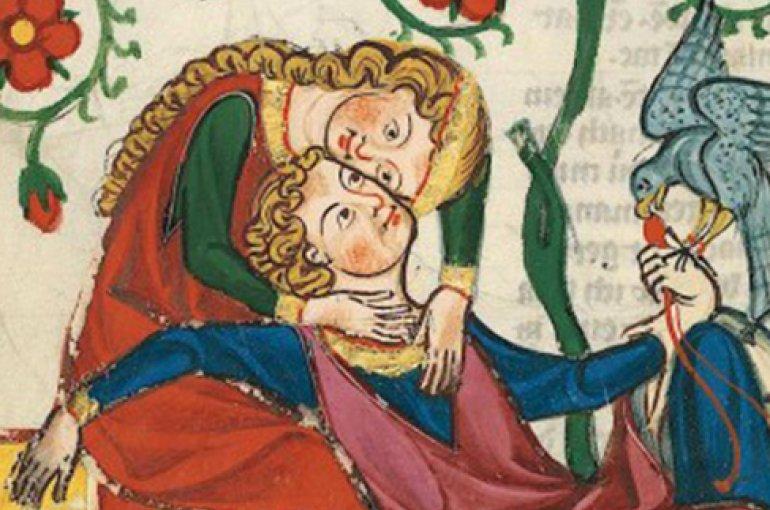 Hoofs liefdespaar, Universitätsbibliothek Heidelberg, Cod. Pal. germ. 848, fol. 249v