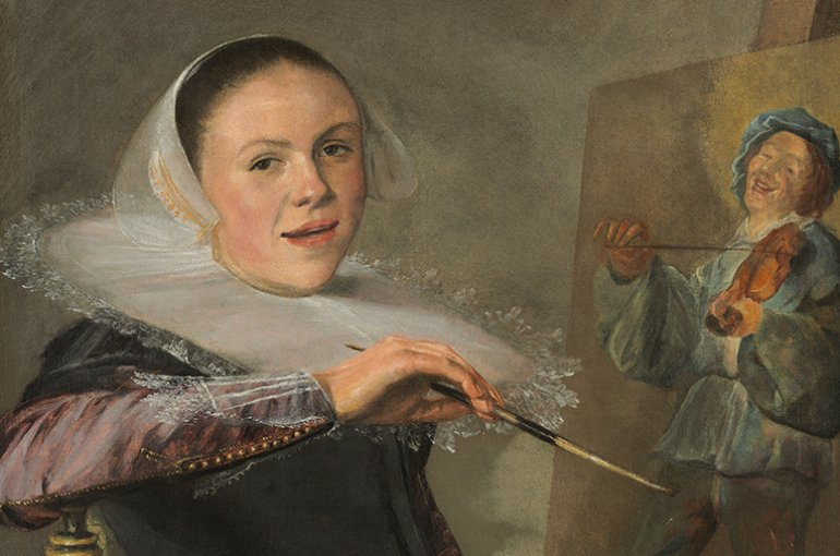 Judith Leyster, Zelfportret achter ezel, ca. 1633. Bron: Wikimedia Commons