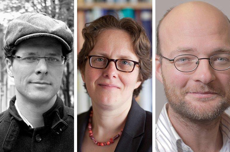 V.l.n.r.: prof. Christian Lange, prof. Ingrid Robeyns en dr. Dirk van Miert