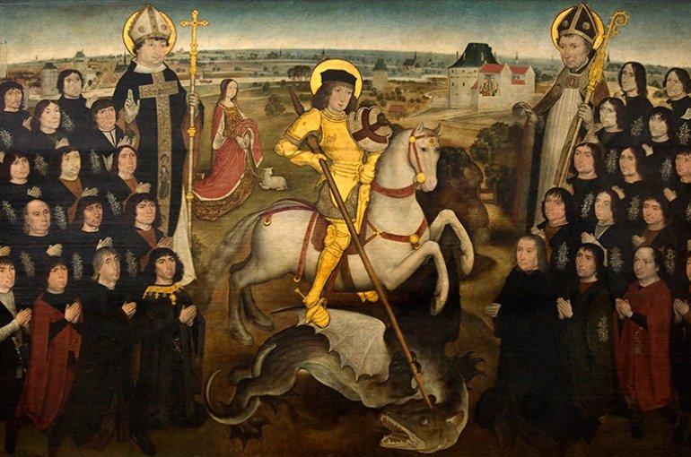 De leden van het gilde van de Grote Kruisboog te Mechelen (ca. 1500). Bron: Wikimedia Commons
