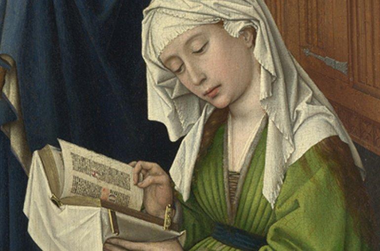 Lezende Maria Magdalena - Rogier van der Weyden (1399/1400 - 1464) Bron: Wikimedia Commons
