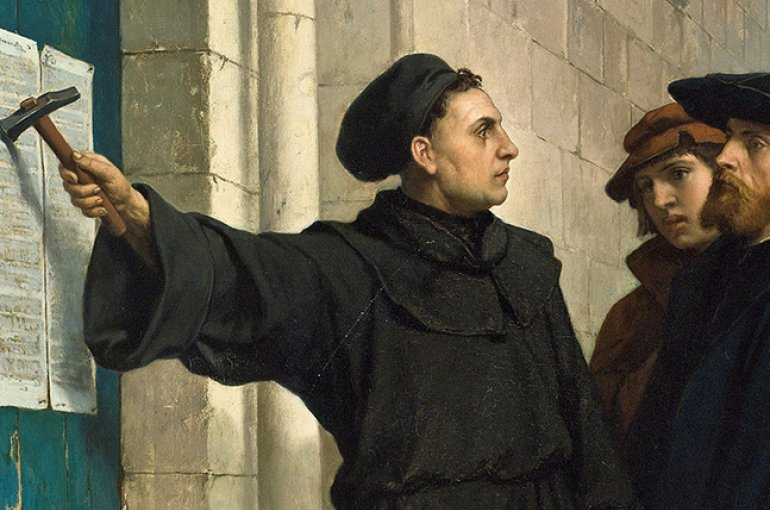 Martin Luther's 95 Theses - Ferdinand Pauwels. Source: Wikimedia Commons