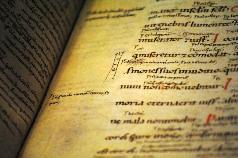 12th-century annotated manuscript © Leiden University Library, Special Collections