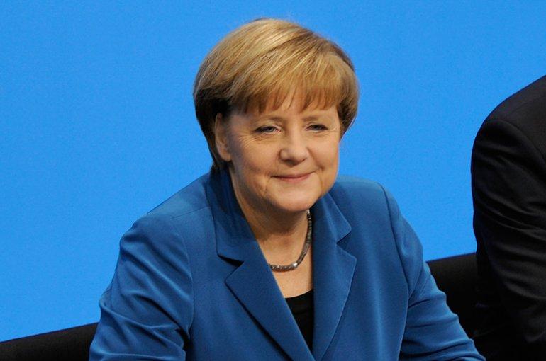 Angela Merkel. Bron: Wikimedia Commons/Martin Rulsch