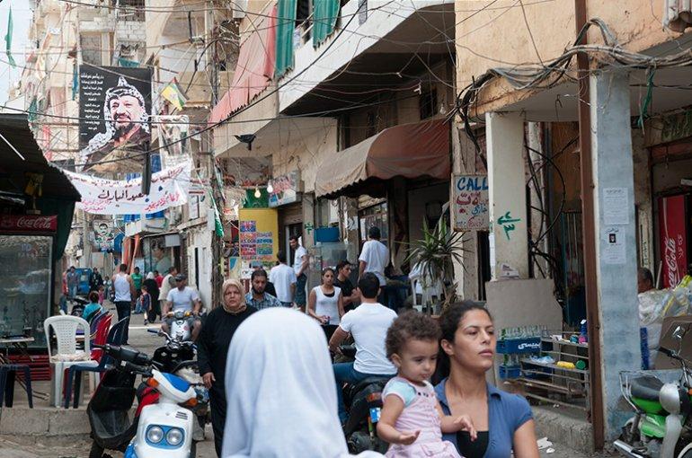 Palestijns vluchtelingenkamp in Libanon © iStockphoto.com/Jcarillet