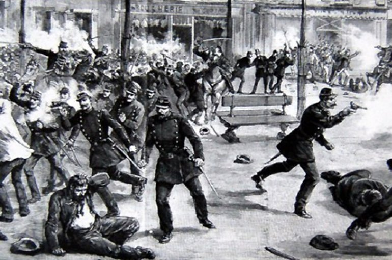 Police violence after social uprising in Paris' suburb Clichy, 1 May 1891 - Photo: Wikimedia Commons