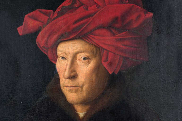 Portrait of a Man door Jan van Eyck (circa 1390-1441). Bron: Wikimedia Commons/National Gallery