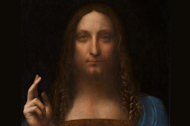 Salvator Mundi. Attributed to Leonardo da Vinci  (1452–1519) Bron: Wikimedia Commons