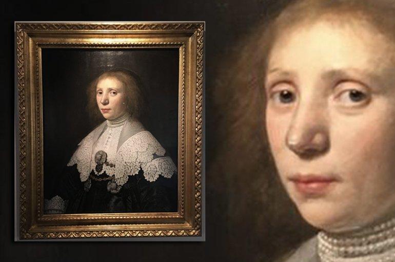 Portrait of Anna Maria van Schurman by Michiel Jansz. Van Mierevelt en Jacob Willemsz. Delff III, 1637-8 (Museum Martena, Franeker)