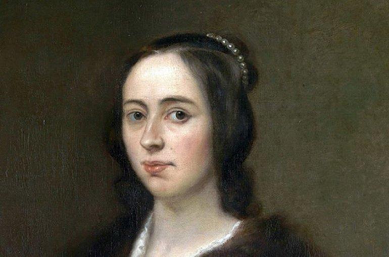 Anna Maria van Schurman (1606-1678), door Jan Lievens (1649). Bron: Wikimedia Commons