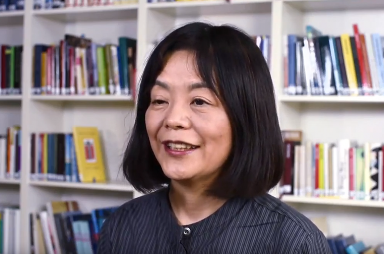 Yōko Tawada, Writer-in-Residence 2019. Bron: YouTube (still)