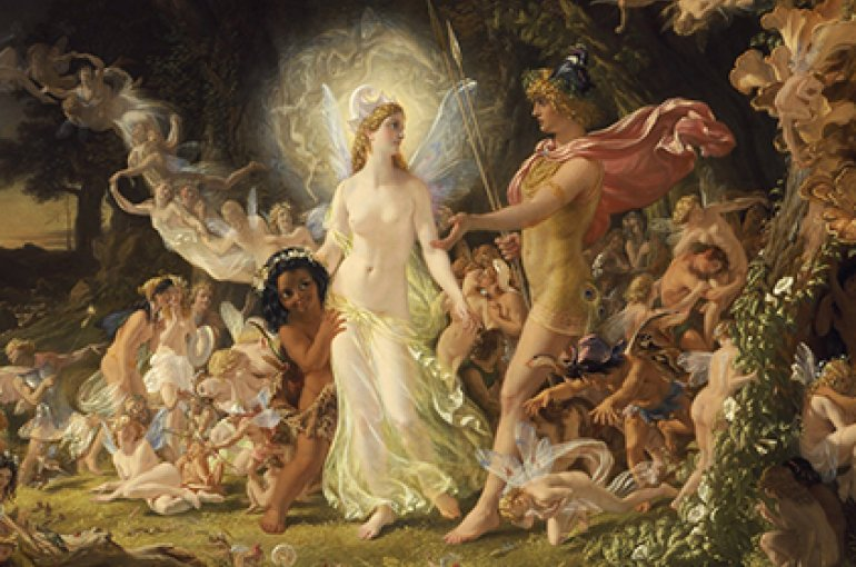 The Quarrel of Oberon and Titania by Noel Paton: fairies in Shakespeare. Source: Wikimedia