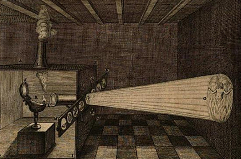 Toverlantaarn uit 1671. Bron: Wikimedia/PD-US