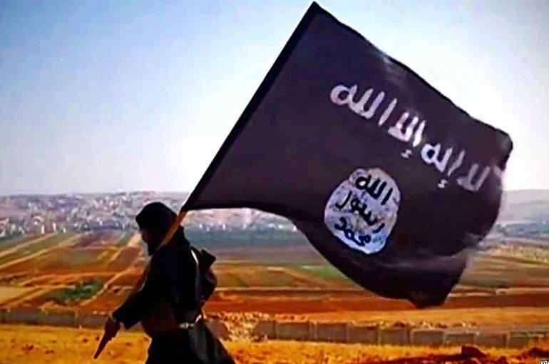 Vlag Islamitische Staat. Bron: Wikimedia Commons/VOA