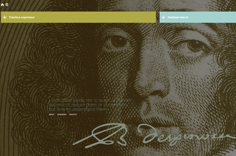 Website over Spinoza