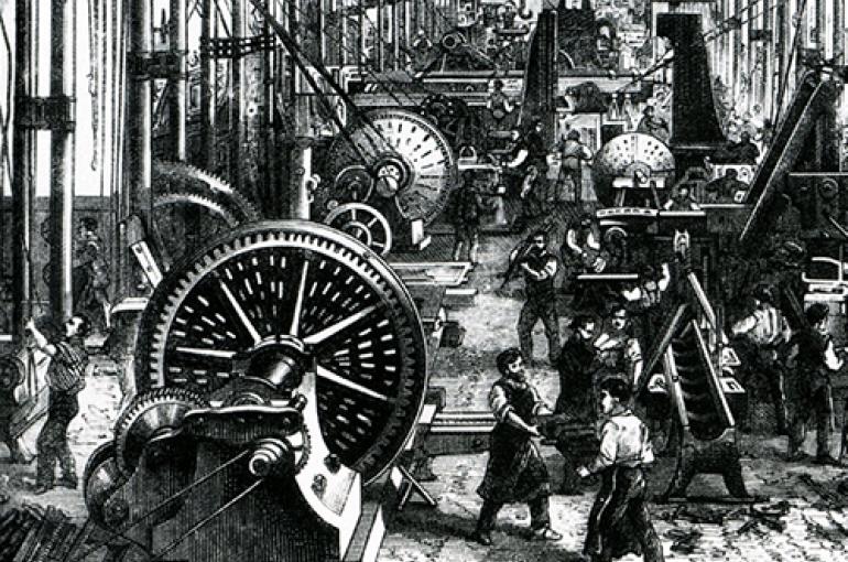Werktuigfabriek 1868. Bron: Wikimedia