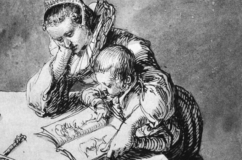 Woman and Child looking at a Picture Book by Jacob de Gheyn II (circa 1565–1629). Source: Wikimedia/Gemäldegalerie, Berlin