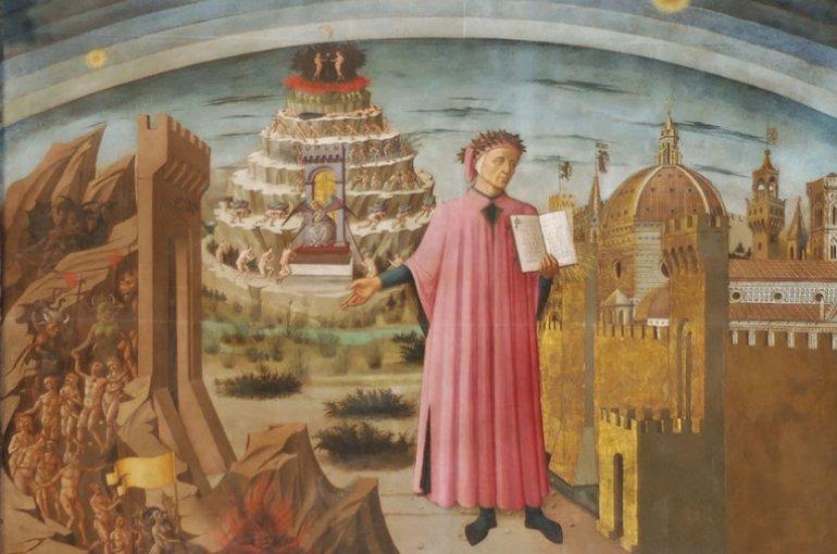 Dante and his Divina Commedia - Domenico di Michelino, 1465, Duomo, Florence / Wikimedia Commons