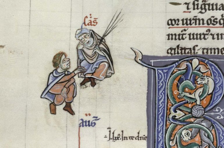 Augustine and Cassiodore debating in the margin of a 12th-century manuscript © Cambridge, Trinity College MS B.5.4