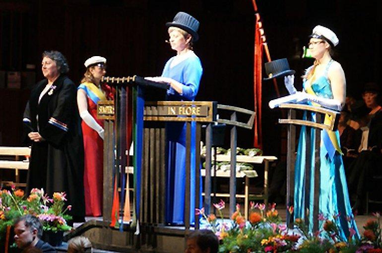 Rosi Braidotti krijgt eredoctoraat, foto UU/Marlise Mensink