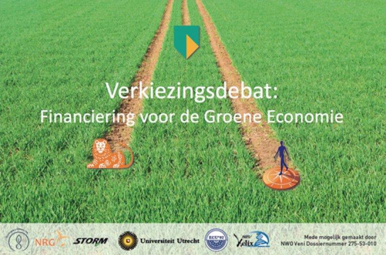 Flyer debat Financiering voor de Groene Economie