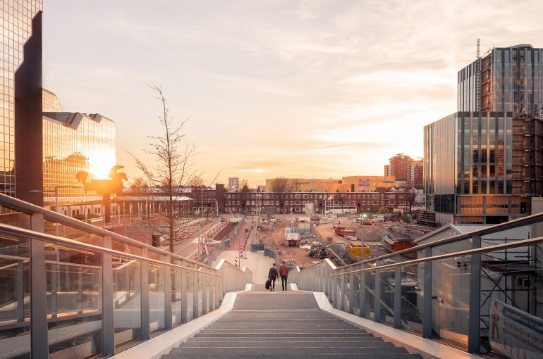 Sunset at Utrecht Central Station, the Netherlands