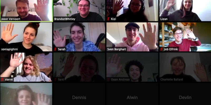 International students in a video conference