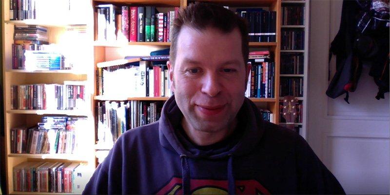 Dan Hassler-Forest, vlogging at home