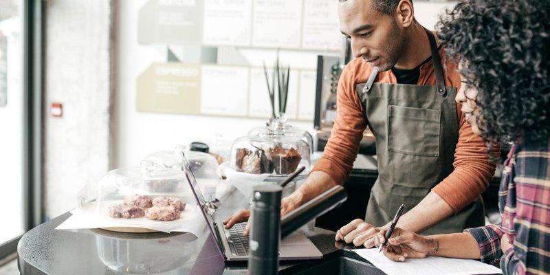 Entrepreneur doing administration