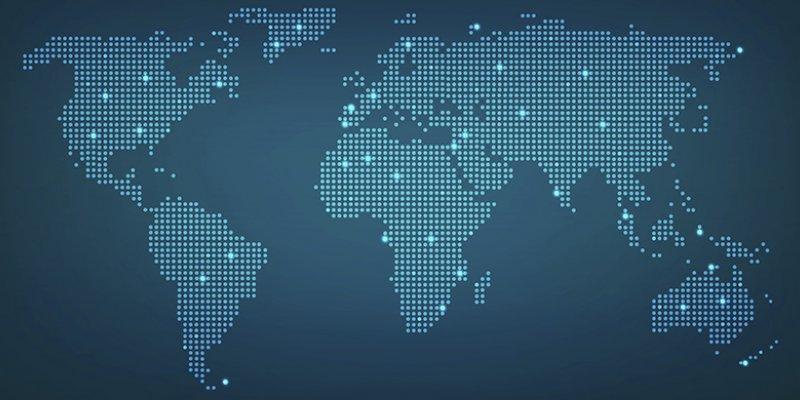 Abstracte wereldkaart