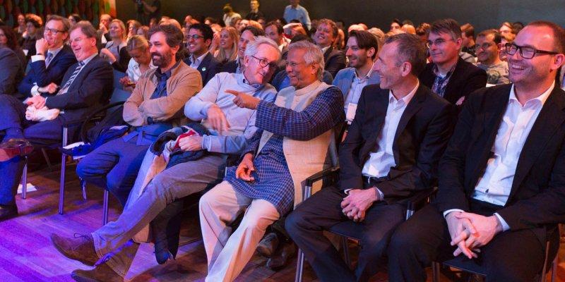 Professor Muhammad Yunus at the Social Entrepreneurship Festival 2016
